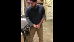 Horny dad caught at work