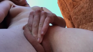 Casual Morning Nature Orgasm. Fully nude on rocks and stuff. freckledRED porno