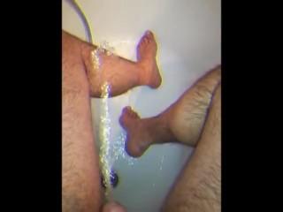 a warm relaxing bath.....