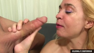 Experienced Blonde Sable Renae Sucks a Long Dick and Gets Fucked