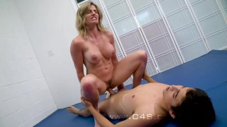 Cory step fucks stepson in mom wrestle chase her wrestling big