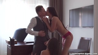 During job interview henessy caprice alina  part little mistreated petite tits