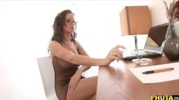 Smoking slut gets her daily dose of semen