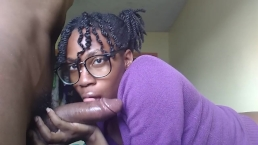 Nerdy ebony sucking boyfriends bbc