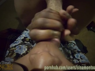 Sinamon's Sloppy Nasty FPOV Blowjob (w/ cum in mouth)