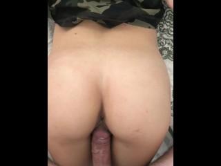 Neighbour cums on my dick