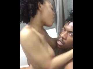 Hotel Bathroom Quickie BabyGirl Orgasms *No Audio*