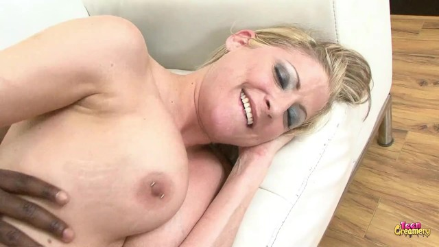 Blonde Milf Rides Big Black Cock and Gets CUM Covered 8