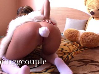 Hot quiet pussy & ASS fuck at Parents house.HD