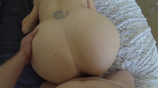 Preview 6 of Blonde with Big Ass Quick Suck and Hard DoggyStyle Creampie
