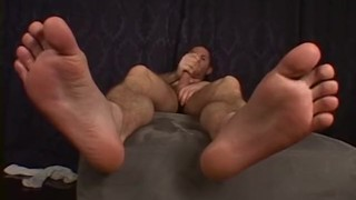 Until loving feet his cum squirts dick jock stroking long he caucasian wanking