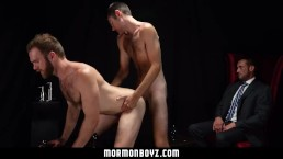 MormonBoyz - Two missionaries fuck as punishment for priest daddy