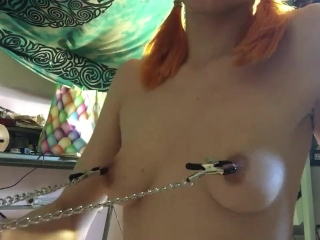 Nipple Clamps & Drool- NadyaEve