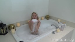 """Barely Legal Lesbian """"Cici"""" Soap's Up Her Huge Titty's In Her First Video"""