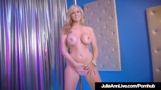 Stripper Milf Julia Ann Slides Up & Down Her Pole All Nude!