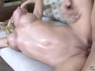 Blowing that sausage as if she is hungry