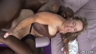 Milf getting that black salami stuck up her soaking wet twat Titty fuck
