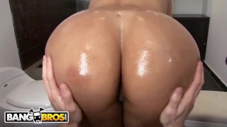 BANGBROS - Colombian Slut Cielo Has A Whole Lot Of Ass and Tits! Butt blowjob