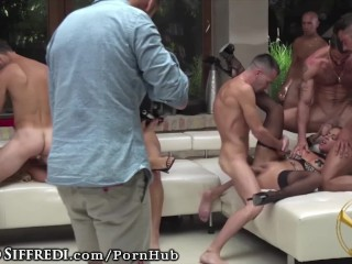 live show  euro anal orgy from rocco siffredi\'s vault!