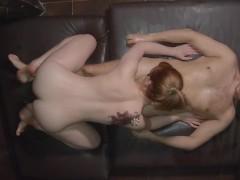 Ginger Sensual Full Body Oil Massage   Redhead Teen Perfect Body Rubbing
