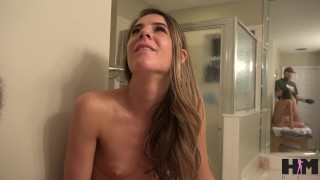 Hussie Auditions: Petite Brunette Milf does anal for her very first time!