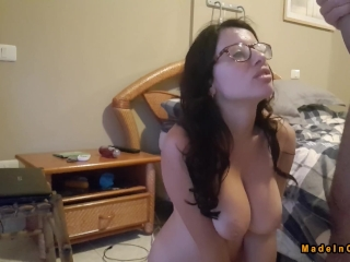 Geek girl with big ass and natural tits ANAL - Made in Canarias