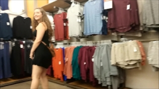 Flashing in Public with my Sister Emma Banks Raw cock
