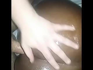 Blk gf loves my white cock