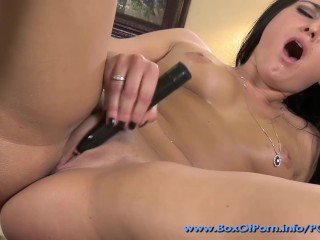 Nina Dove Loving That Shaved Teen Pussy With Her Favorite Black Vibrator!