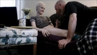 Riley Storm Gives Extra Sunday Morning Coffee Treat To Daddy