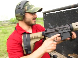 How to Clear Fun AR15 Double Feed Jams Video - Glock Breach Loading & SB15