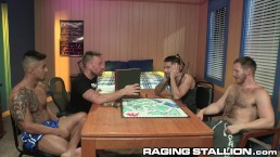4 Cute Big Dick College Nerds Play Board Games & Fuck & DP!
