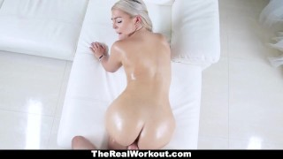 TeamSkeet - Fitness Chick With Huge Ass Does Some Sensual Healing Bangbros dick