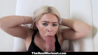 Sensual fitness with huge teamskeet healing chick does some ass blonde bigcock