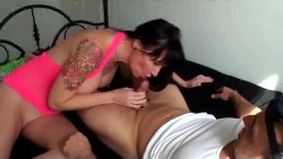 My first creampie with Angie Noir