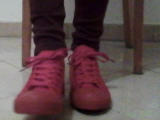 In Chucks (Red Sneakers) and Dirty Socks