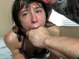 Petite Bikini Teen Destroyed Rough Face Fuck & Throated Hard