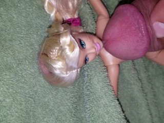 Dad cums all over Step daughter's Barbie doll