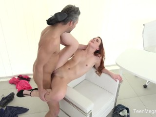 Beauty4k.com -Charli Red- Mind-blowing Fuck with Titty Redhead At Casting