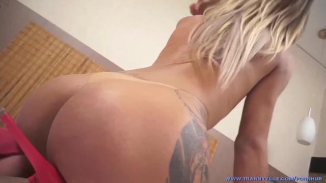 Thin & Sexy Shemale Hottie Bruna Almeida Shows Off Tasty Body & Jerks Dick! 1