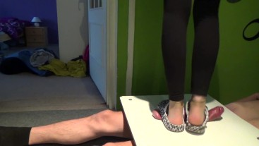 Shoes trample crush cock and balls
