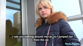 After gets fucking mouthful for of agent cash blondes a hot public cum czech orgasm