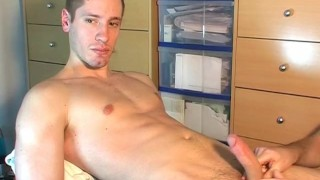 French straight guy's cock gets wanked in spite of him. (Ange)