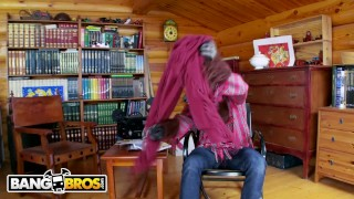 Preview 1 of BANGBROS - Busty Blonde Lexi Lowe Runs Into The Big Bad Wolf In The Woods!