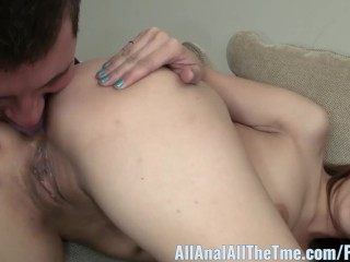 Tight Asian Gets Her Ass Spread and Licked on All Anal!