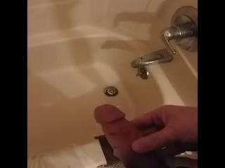 Cum in shower
