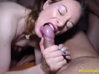 her first rough anal gangbang
