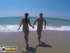 : BANGBROS - Patty Michova & Christian Clay Beach Sex In Full View Of Public!