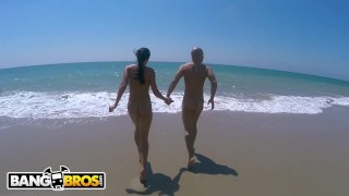 BANGBROS - Patty Michova & Christian Clay Beach Sex In Full View Of Public!