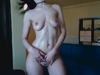 HD Romanian streaptease, oil body, bounce tities and masturbate hard